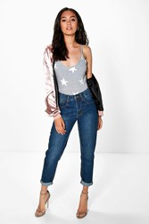 Boohoo Tammy Dark Wash Mom Jean Dark Blue