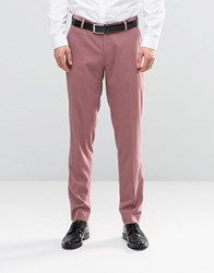 Asos Skinny Smart Trousers In Light Pink Canyon Rose