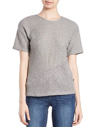 William Rast Textured Roundneck Top Grey