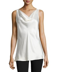 Josie Natori Allure Cowl Neck Tank Warm White
