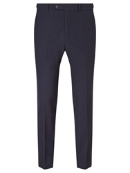 John Lewis And Co. Cooper Micro Seersucker Tailored Fit Suit Trousers Indigo
