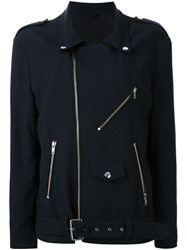 Scanlan Theodore Biker Jacket Blue