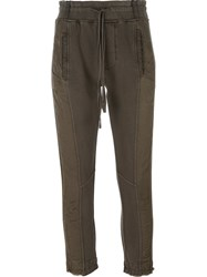 Haider Ackermann Panelled Cropped Trousers Green
