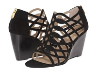 Adrienne Vittadini Arndre Black Sueded Women's Wedge Shoes