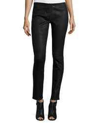 Haute Hippie Skinny Embossed Suede Pants Black