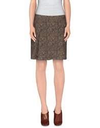 Met And Friends Knee Length Skirts Khaki