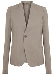 Rick Owens Plinth Taupe Wool Blazer Light Grey