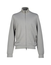 Armani Collezioni Topwear Sweatshirts Men Light Grey