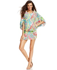 Anne Cole Elastic Waistband Tunic Style Cover Up Women's Swimsuit