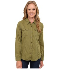 Royal Robbins Sugar Pine Twill Long Sleeve Top Spanish Moss Women's Long Sleeve Button Up Olive