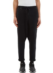 Y 3 Zipped Textured Knit Track Pants Black