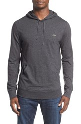 Lacoste Men's Jersey Hoodie Dark Grey Jaspe Chine