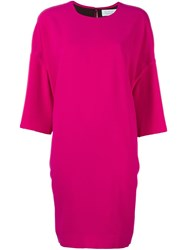 Gianluca Capannolo Loose Fit Shift Dress Pink Purple