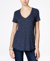 Rachel Rachel Roy Taylor V Neck T Shirt Denim Combo