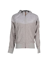 Diadora Heritage Coats And Jackets Jackets Men Light Grey