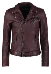 Freaky Nation Coltrane Leather Jacket Burgundy Red