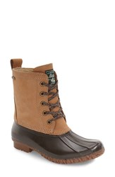 G.H. Bass Women's And Co. Daisy Waterproof Duck Boot Tan Chocolate Leather