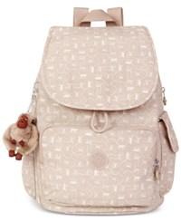 Kipling Ravier Backpack Monkey Mania Beige
