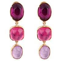 Goossens Paris Rock Crystal Earrings Multi