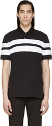 Givenchy White And Black Striped Polo
