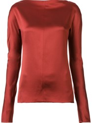 Protagonist Back Zip Blouse Red