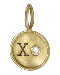 14K Yellow Gold Xo Charm With Diamond Heather Moore