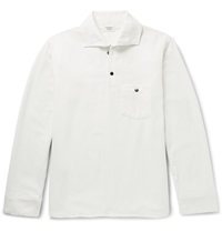 Everest Isles Woven Polo Shirt White
