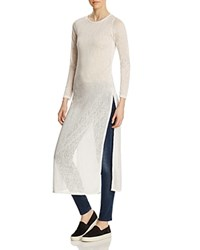 Leibl '38 Long Sleeve Maxi Tee Compare At 78 White