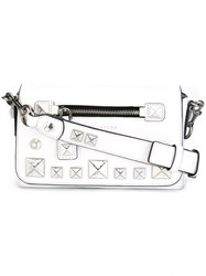 Marc Jacobs 'Recruit Chipped Studs' Crossbody Bag White
