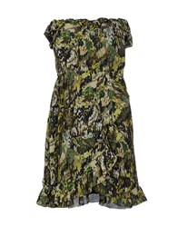 Poems Dresses Short Dresses Women Military Green