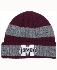 Adidas Mississippi State Bulldogs Player Watch Knit Hat Maroon Heather Gray