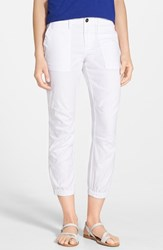 Women's Sanctuary 'Peace Trooper' Crop Cargo Pants Optic White