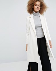 Helene Berman Longline Zoe Coat Winter White