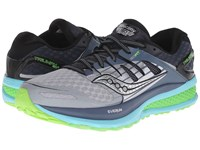 Saucony Triumph Iso 2 Grey Blue Slime Women's Shoes Gray