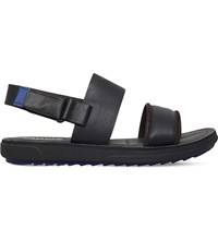 Camper Marges Suede And Leather Sandals Blk Blue