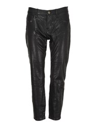 Frame Denim Le Garcon Cropped Pants Black