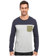 United By Blue Standard Long Sleeve Color Block Pocket Shirt Navy Men's Clothing