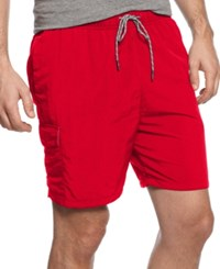 Tommy Bahama Big And Tall Men's Naples Happy Go Cargo Swim Shorts Ruby Red