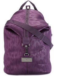 Adidas By Stella Mccartney Leopard Print Backpack Pink And Purple