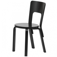 Aalto Chair 66 Lacquered Black Artek 66 Chairs Furniture Finnish Design Shop