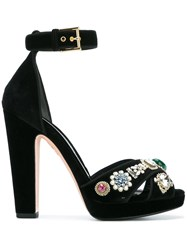 Alexander Mcqueen Jewel Sandals Black