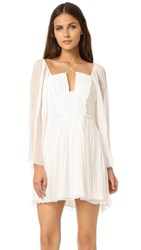 Free People Aquarius Mini Party Dress Ivory