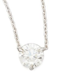 Nm Diamond Collection 18K White Gold Solitaire Pendant Necklace G H Si1 0.74Ctw