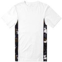 Sophnet. Camouflage Flannel Check Panel Tee White