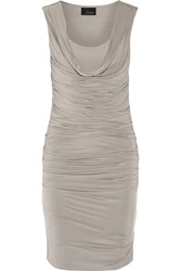 Line Thompson Ruched Stretch Knit Dress Nude