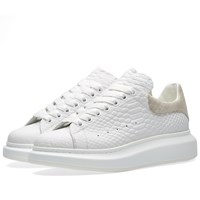 Alexander Mcqueen Oversized Sole Low Top Sneaker White