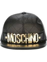 Moschino Quilted Cap Black