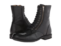 Frye Tyler Double Zip Black Soft Vintage Leather Men's Lace Up Boots