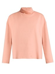 Acne Studios Lorma Roll Neck Cotton Top Pink