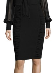 Nanette Lepore Fierce Ruched Pencil Skirt Black